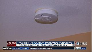 Carbon Monoxide blamed for killing elderly couple inside Anthem home - Video