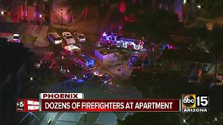 Firefighters battling blaze at Phoenix apartment complex - Video
