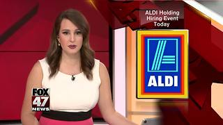 Hiring spree Tuesday at ALDI stores across MI - Video