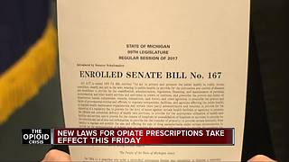 New laws for opiate prescriptions take effect this Friday