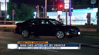 Man dies after being hit by car on Milwaukee's north side - Video