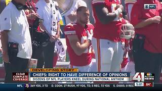 Chiefs fans react as NFL players protest - Video