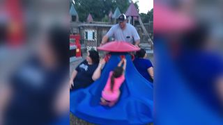 Man Falls Off Playground Spinning Construction - Video
