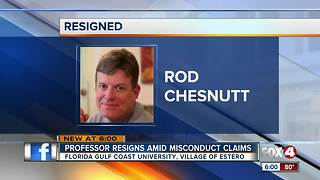 FGCU music professor resigns amid alleged misconduct claims - Video