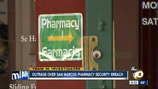 Outrage over San Marcos pharmacy security breach - Video