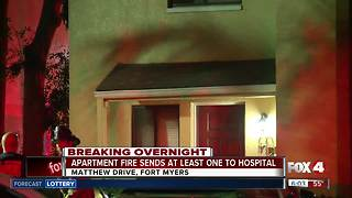 Four residents escape early morning apartment fire in Fort Myers - Video