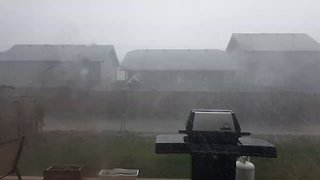 Severe Storm Blows Through Saskatchewan Town - Video