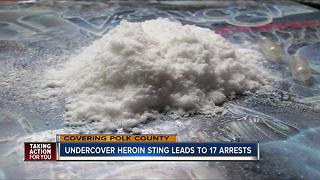 17 suspects arrested in undercover heroin bust - Video