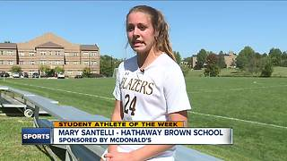 Student Athlete of the Week: Mary Santelli - Video