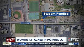 Female student attacked in UNLV parking lot - Video