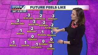 Single digit temperatures Friday night - Video