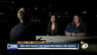 Teen who fought of kidnapper breaks her silence - Video