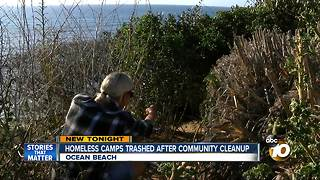 Homeless camps trashed after community cleanup - Video