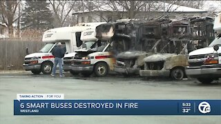 Fire destroys six SMART buses in Westland