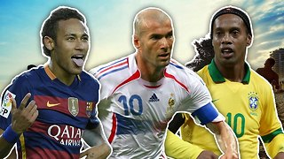 Top 10 Most Skilful Footballers In History - Video