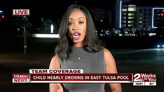 3-year-old nearly drowns, revived by EMSA at east Tulsa apartment - Video