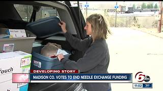 Madison County Council votes to end needle exchange program - Video