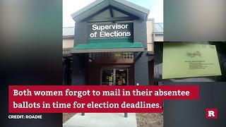 Roadie delivers absentee ballots on Election Tuesday | Rare Politics - Video