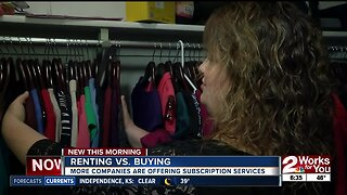 Renting vs. Buying: More companies are offering subscription services