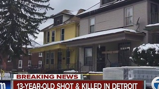 13-year-old shot and killed in Detroit - Video