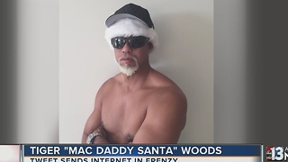 "Tiger Woods posts ""Mack Daddy Santa"" pic"