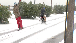 Parts of South see ice and snow for first time in years - Video