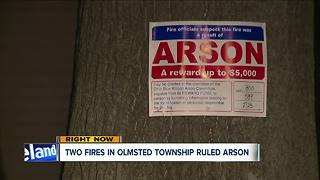 Two house fires in Olmsted Township ruled arson - Video