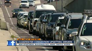 Congestion nightmare: New Clearwater apartments cause traffic concerns - Video