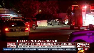 Woman shot in head in north Tulsa - Video