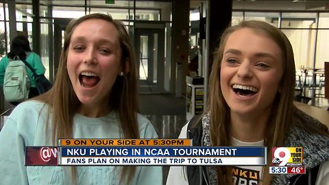NKU students following their team to NCAA tournament