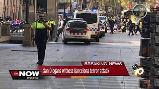 San Diegans witness Barcelona terror attack - Video