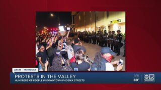 Protesters clash with police during Phoenix protests