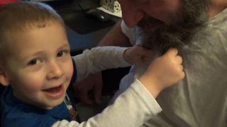 Cute Kid Milks His Dad's Beard