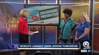 World's Largest Swim Lesson seeks to prevent drownings