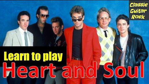 """Learn to Play """"Heart and Soul"""" by Huey Lewis and the News - Easy Guitar Lesson"""