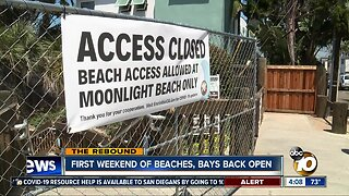 First weekend of beaches, bays back open