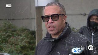Detroit Police Chief James Craig reacts after guilty verdict in Derek Chauvin trial