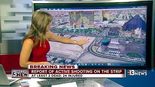 Explanation of where the shooting took place on Las Vegas Strip - Video