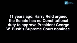 Confused Harry Reid Confronted About Flip-Flopping About SCOTUS Nomination - Video