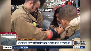 Off-duty troopers save six people - Video