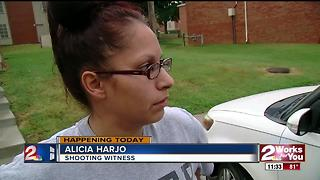Witness describes shooting at Towne Square Apartments - Video