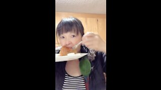 Breakfast With Parrot