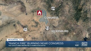 Ranch Fire burning near Congress