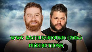 WWE Battleground (2016) Sami Zayn vs. Kevin Owens Predictions (WWE 2K16) - Video