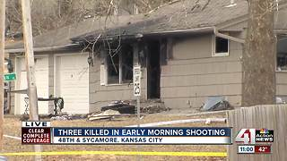 3 dead after shooting, house fire in east KC - Video