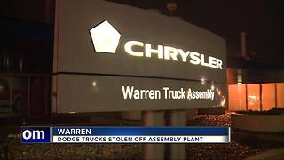 Nine brand new trucks stolen from Fiat Chrysler storage lot in Warren - Video