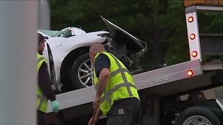 Fatal wrong way crash in downtown Cleveland - Video