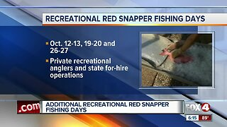Red Snapper fishing season extended