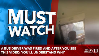 A bus driver was fired and after you see this video, you'll understand why - Video