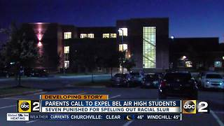 Photo spelling out racial slur spurs calls for expulsion at Bel Air High School - Video